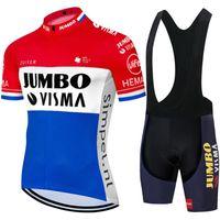 Radfahren Jersey Set Pro Team Jumbo Visma Kleidung Sommer MTB Bike BIB Shorts Kit Ropa Ciclismo