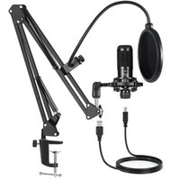 Microphones USB Computer Condenser Microphone Kit With Adjustable Scissor Arm Stand For PC YouTube Video Gaming Streams Studio T669