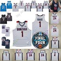 2021 Final Four 4 4 Gonzaga Bulldogs كرة السلة جيرسي NCAA College Jalen Suggs كوري Kispert Draw Timme Stockton Anton Watson Andrew Nembhard Pavhard Zakharov Ballo