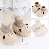First Walkers Autumn&Winter Born Shoes Warm Socks Unisex Baby Girls Infant Cute Bear Animals Crib Girl 1 Year