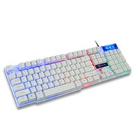 Keyboards GK50 Wired Mechanical Gaming Keyboard Floating Cap Waterproof Rainbow Backlight USB 104 Keycaps Computer Game