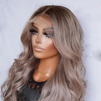 Lace Wigs 26 Inch Long 180%Density Ombre Ash Gary Blonde Body Wave 13x4Lace Front Wig With Baby Hair Brazilian Human Remy For Black Women