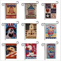 Banner banderas 33design USA Union Party Estadounidense Serie Modelo Double Sided Garden Bander Decoración de césped 47 * 32 cm FFA1929 50pcs wvtk