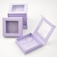 100pcs pack Wholesale Eyelash Packaging Box Lash Boxes Custom Logo Faux Cils Mink Eyelashes Square Case Gift Vendors Wrap