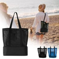 Outdoor Camping Beach Mesh Tote Bag With Detachable Cooler Packing Organizer Multifunctional Waterproof Backpack Pool & Accessories