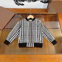 2021ss designer clothes kids fashion zipper hoodie coat logo brand bbrye hoodies jackets striped girls boys winter high quality V-neck trench coats baby clothes