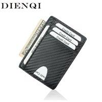 Wallets Dienqi Minimalist Slim Leather for Men Women Thin Mini Small Male Female Coin Money Waller Walket