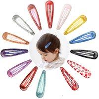 14 Renk Bebek Kız 1.96 Inç Baskı Metal BB Saç Klip Çocuklar Meyve Tokalar Tokalar Şapkalar Güzel Huilin C236