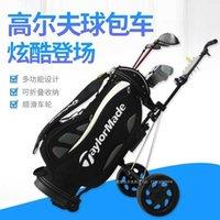 Wagen mit zwei Rädernwagen faltbare multifunktionale Golfplatzgeräte Golf Cart Trolley