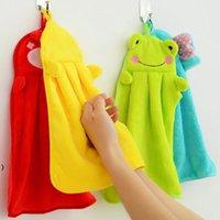 Serviette à main suspendue cuisine salle de bain couverte tissu doux épais essuie serviette coton vaisselle nettoyage serviette accessoires OWB8631