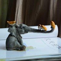 Carino elefante Statue Figurine Collezione Artigianato Regalo Della Casa Decorazione Giardino Decorazione Micro Paesaggio Ornamento Desktop Decorations