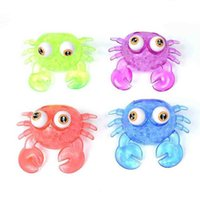 Creative Cool Boys Girls Squeeze Grenouille TPR Big Eye Crocodile Whale MEGA Jumbo Taille Squishy Stressball Jouets Squeezy Vent Vent Ball Animal avec perles pour enfants G73PUP6