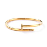 Fashion Custom Bracelet Women Men Cuff Sier Gold Color Rose Gold Special Charm Mens Nail Bracelets