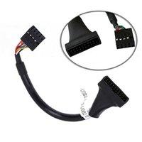 USB 3.0 20 دبوس الذكور إلى USB 2.0 9 دبوس اللوحة الأم الإناث محول محول USB ل CD-ROM / Floppy Drive Panel
