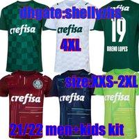 كبير الحجم: S-4XL 21 22 Palmeiras Soccer Jersey Youth Home Green Dudu G.Jesus B. Henrique Alcsandro Boys 2021 2022 رجل بالغ + أطفال كرة القدم قميص