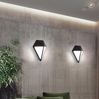 Modern Minimalist Indoor Corridor Stair Wall Lamp Shaped Bed...
