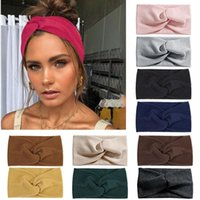 Five Fingers Gloves Fashion Women's Headband Solid Cross-knotted Twisted Elastic Yoga Sports Fitness Headscarf Hair Accessories