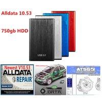 2021 Hot AllData Dernière version 10.53 et ATSG + Données de réparation de voiture Vivid dans un disque dur HDD de 750 Go
