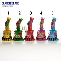 6.5 Inches Glass Bong Hookahs Water Pipe Clay Monster With Quartz banger 4mm Thick Bongs Female Joint Dab Oil Rig Horrible
