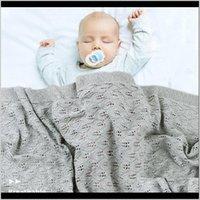 Quilts Baby Gestrickte Baumwolle Sommer Sommer für Borns Swaddle Kinderwagen Decke Kleidung Cobertor Infantil Wrap Monatskinder Quilt K7J36 JYPBA