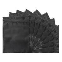 Storage Bags 100 Pcs Mylar Bags,5.5 X 7.8 Inch Resealable Foil Pouch Bag Zipper Closure Food Matte Black