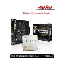 Motherboards AMD Ryzen 7 1700 R7 Original Used CPU + ASUS TUF B450M PLUS GAMING Motherboard Suit Socket AM4 Without Cooler