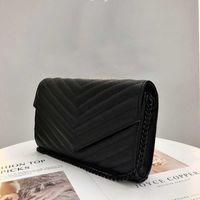 Mujer bolso clutch dama caja original cuero genuino de alta calidad de alta calidad bolso de mensajero bolso de mano bolso 2021 nuevo de calidad superior bolsa negra bolsa sl