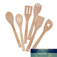 1 قطعة مطبخ ملعقة ملعقة خلط المهنية جميلة الخيزران utensil أدوات الطبخ الخشبية
