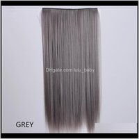 In On Extensions Productsz&F Synthetic Fiber Weft Straight Tape Extension 5 Clip In Hair 24Inch Long Wholesale Promotion Drop Delivery 2021