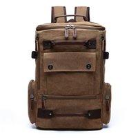 Backpack Men's Vintage Canvas School Bags For Teenage Girls Boys Laptop Bagpack 15.6 Mochila Rucksack Back Pack Travel