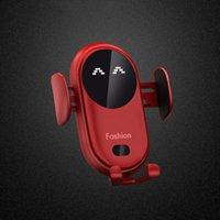 S11 الذكية الأشعة تحت الحمراء الاستشعار شاحن اللاسلكية سيارة حامل الهاتف المحمول سيارة شواحن قاعدة مع شفط كأس جبل ل iphone12 11 برو x xr 8plus سامسونج s9 s8 s7 s7 s7