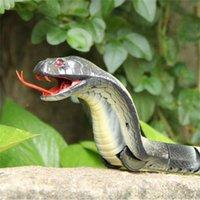 파티 마스크 RC 적외선 원격 제어 뱀과 계란 방울뱀 동물 트릭 어린이를위한 무서운 장난 장난감 재미있는 참신 선물