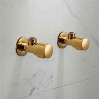 TUQIU Control Gold Color Chrome ванная комната водопроводный клапан 1/2 * 1/2 латунные черные угловые клапаны