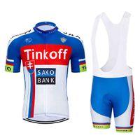 Vendita diretta della fabbrica dei tucini da uomo! Saxobank Tinkoff Bikes Jerseys / Quick-DrooG Ropa Cyclism Abbigliamento / Abbigliamento sportivo respiratori 0710