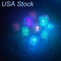 Luces de noche LED CUBO CUBE Forma Iluminación Líquido activado Sumergido, cambio de color Reutilizable, Operado por batería para bodas, Fiestas EE.UU.