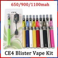 Fábrica al por mayor EGO EVOD CE4 BLISTER STARTER KIT 650MAH 900MAH 1100MAH EGO-T batería atomizador Clearomizer E Kits de cigarrillos VS Vision Spinner