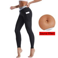 Women's Shapers Sweat Sauna Suits Slimming Pants Women Shapewear High Waisted Waist Trainer Weight Loss Body Shaper Leggings With Pockets