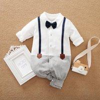 ProWow 남성 태어난 아기 옷을 입은 아기의 넥타이 크롤러와 넥타이 크롤러와 함께 넥타이 jumpsuit 소년 의류 jumpsuits