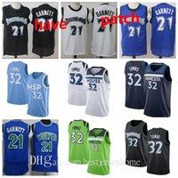 Мужчины молодежи баскетбольные майки Minnesotatimberwolves Kevin Garnett 21 городок 32 32 Винтаж сшитые белые черные синие трикотажки короткие дышащие S-2XL
