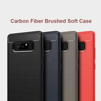 Rugged Armor Cases For Samsung S20 Ultra S10 S10e S9 S8 Plus Note 10 9 Soft Silicone Shockproof Brushed Carbon Fiber Phone Cover