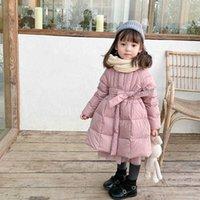 Jackets Girls Baby's Kids Coat Jacket Outwear 2021 Lovely Warm Plus Velvet Thicken Winter Autumn Cotton Outdoor Fleece Children's Clothe