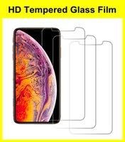 Protezioni schermo HD per iPhone 5 / 5S 6 7 8 Plus XR XS 11 12 Mini Pro Max Case Friendly Glass Temperato