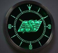 Wall Clocks Nc-tm113 Saskatchewan Roughriders Neon Light Signs LED Clock