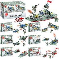 Assemblea transfrontaliera di Building Blocks Mobili da guerra militare FAI DA TE Modella Aberdeen Bambini Puzzle Gift Gifts