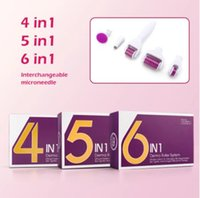 Wholesale 3 4 5 6 in 1 Derma Roller Kit for Face and Body 0.25mm & 0.3mm Micro Needle Dermaroller with Replaceable Heads