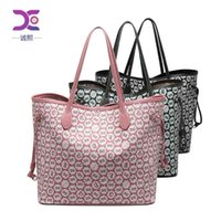 Bag women's 2021 fashion big 2-piece cover mother one shoulder tote printed hand-held lady's bag