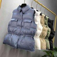 SEDUTMO Winter Duck Down Women Vest Tunic Short Jackets Autumn Waistcoat Casual Puffer Jacket Slim Parkas ED1104