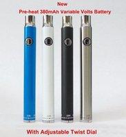 Preheating Bottom Twist Variable Voltage 380mAh Pre-heat VV Battery Bottom Dial for 510 Vartridge O Vape Pen