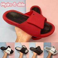 Neueste Hydro 6 Slide Männer Frauen Hausschuhe Schuhe Black White University Red Wolf Grau Metallic Gold Pink Mode Herren Rutschen US 4-11