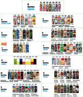 97 Types 18650 20700 21700 Série Batterie enveloppe des motifs colorés rétrécissables PVC Re-Wrap Skin Sticker Wrapper Couvre-couverture résistant à la chaleur pour batteries